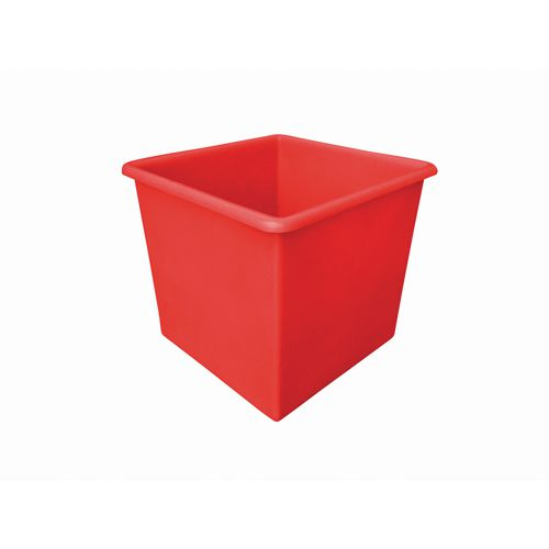 Rectangular Food Grade Plastic Storage Box With Tapered Sides 72L L460xW460xH435mm Red
