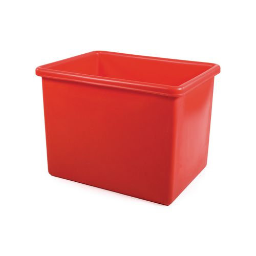 Rectangular Food Grade Plastic Storage Box With Tapered Sides 100L L630xW515xH440mm Red