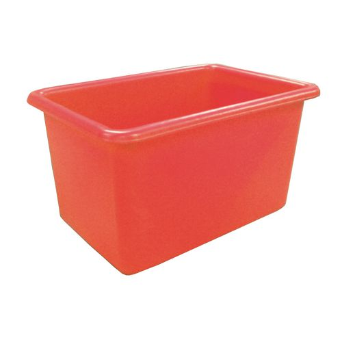 Rectangular Food Grade Plastic Storage Box With Tapered Sides 320L L1010xW685xH635mm Red