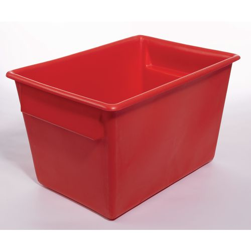 Rectangular Food Grade Plastic Storage Box With Tapered Sides 370L L1040xW730xH615mm Red