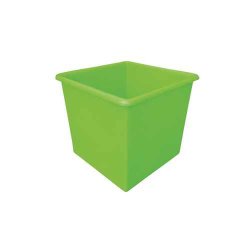 Rectangular Food Grade Plastic Storage Box With Tapered Sides 72L L460xW460xH435mm Green