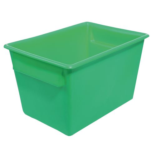 Rectangular Food Grade Plastic Storage Box With Tapered Sides 370L L1040xW730xH615mm Green