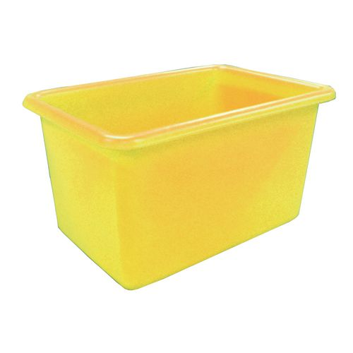 Rectangular Food Grade Plastic Storage Box With Tapered Sides 320L L1010xW685xH635mm Yellow