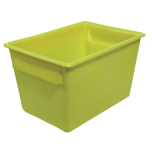Rectangular Food Grade Plastic Storage Box With Tapered Sides 370L L1040xW730xH615mm Yellow