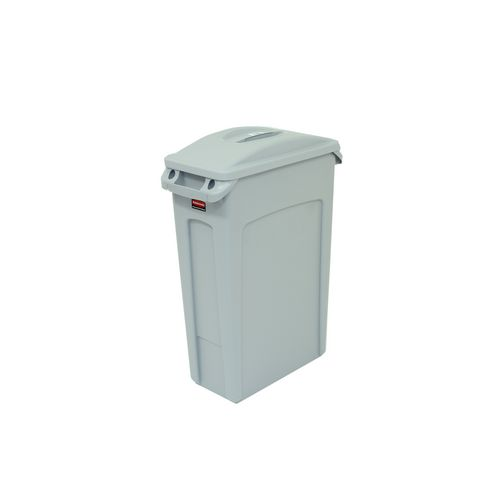 Bin Waste Slim Jim Body 87L Colour Grey 760 X 510 X 280mm