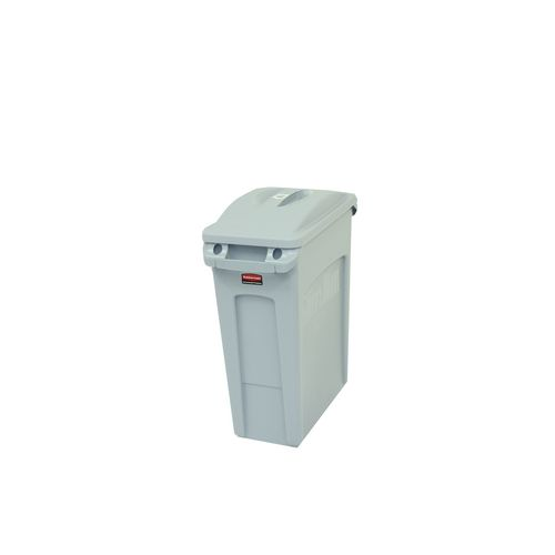 Bin Waste Slim Jim Body 60.5L Colour Grey 630 X 590 X 280mm