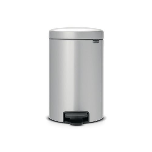 Brabantia New Icon 12 Litre Pedal Bin Metallic Grey