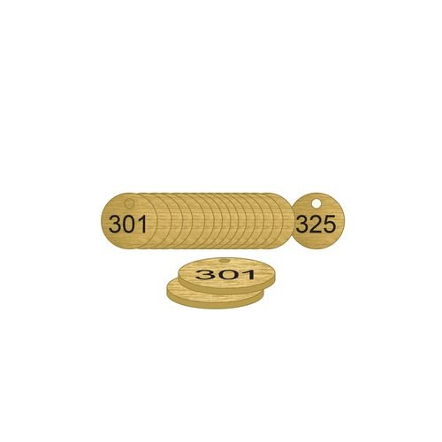 27mm Dia. Traffolite Tags Bronze Effect (301 To 325)