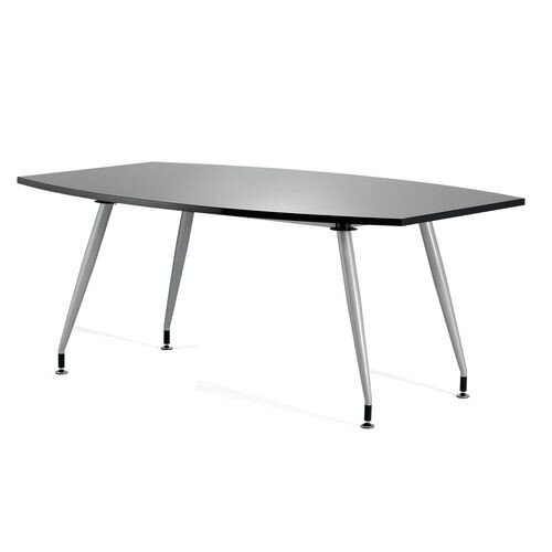 Boat Shaped High Gloss Boardroom Table W1800xD1200xH750mm Black