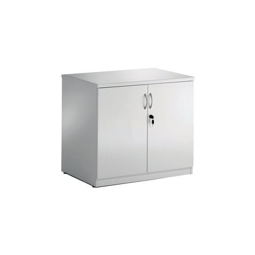 High Gloss White Double Door Boardroom Credenza Cupboard W800xD600xH720mm