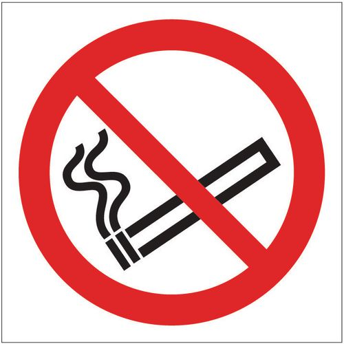 Sign No Smoking Pictorial 100x100 Polycarb