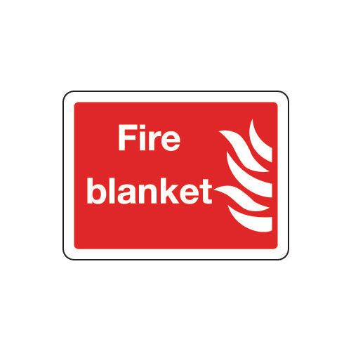 Sign Fire Blanket 200x150 Polycarb
