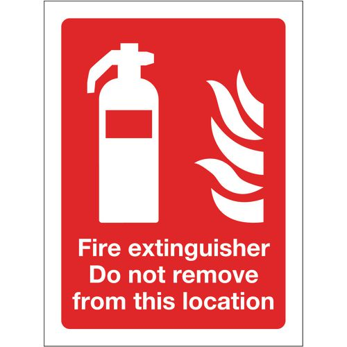 Sign Fire Extinguisher Do Not Remove 300x400 Polycarb