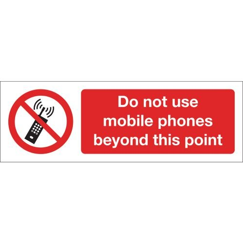 Do Not Use Mobile Phones Beyond This Point Polycarbonate 400x600