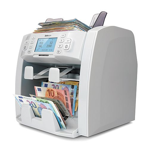 Safescan 2985-SX Automatic 1,5 Pocket Banknote Value Counter &Sorter for Multi Currency 112-0544