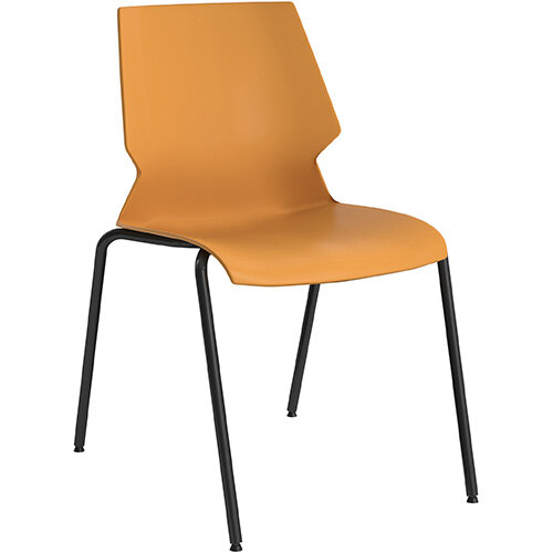 Titan Uni 4 Leg Classroom Chair 475mm Seat Height Grey Frame &Yellow Seat