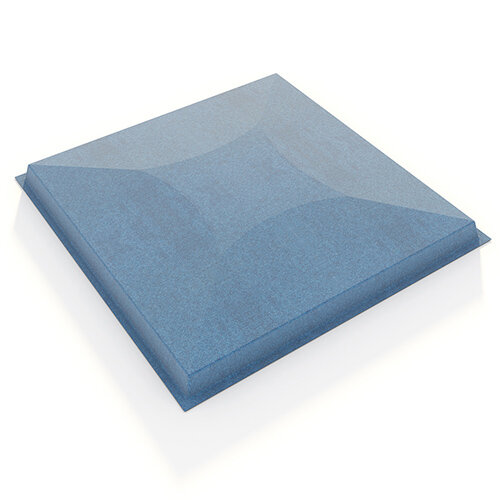 Piano acoustic felt fabric ceiling grid system tiles (10 pack) - blue