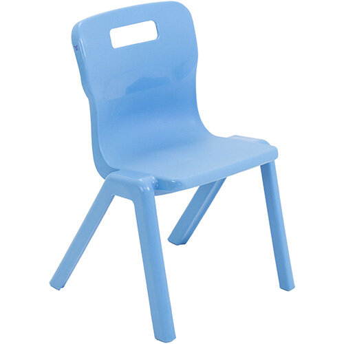 Titan One Piece Classroom Chair Size 2 310mm Seat Height (Ages: 4-6 Years) Sky Blue T2-CB - 20 Year Guarantee