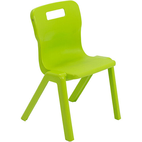 Titan One Piece Classroom Chair Size 2 310mm Seat Height (Ages: 4-6 Years) Lime T2-L - 20 Year Guarantee