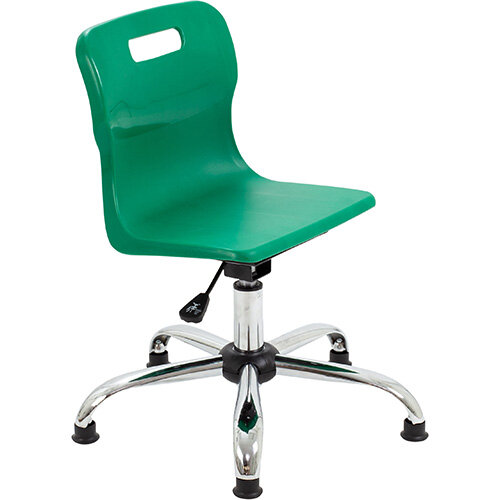 Titan Swivel Junior Classroom Chair with Glides 365-435mm Seat Height (Ages: 6-11 Years) Green T30-GNG - 5 Year Guarantee