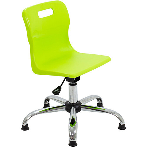 Titan Swivel Junior Classroom Chair with Glides 365-435mm Seat Height (Ages: 6-11 Years) Lime T30-LG - 5 Year Guarantee