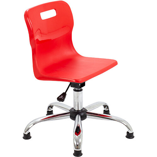 Titan Swivel Junior Classroom Chair with Glides 365-435mm Seat Height (Ages: 6-11 Years) Red T30-RG - 5 Year Guarantee