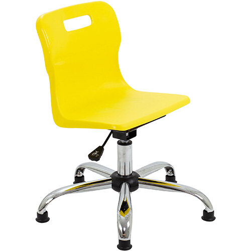 Titan Swivel Junior Classroom Chair with Glides 365-435mm Seat Height (Ages: 6-11 Years) Yellow T30-YG - 5 Year Guarantee