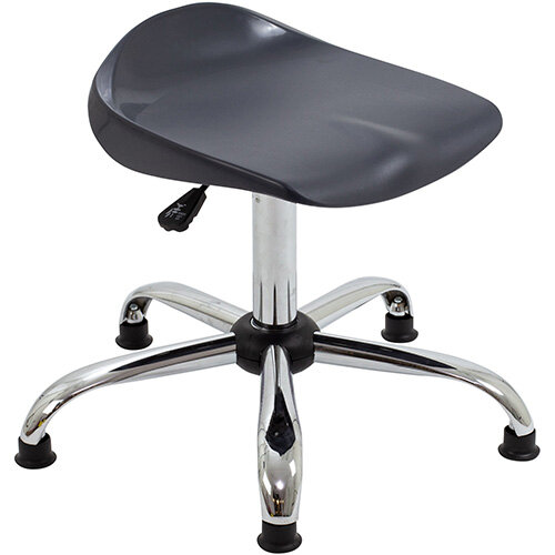 Titan Swivel Senior Classroom Stool with Glides 465-555mm Seat Height (Ages: 11+ Years) Charcoal T33-CG - 5 Year Guarantee