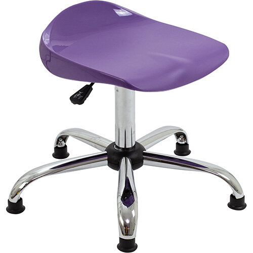 Titan Swivel Senior Classroom Stool with Glides 465-555mm Seat Height (Ages: 11+ Years) Purple T33-PG - 5 Year Guarantee