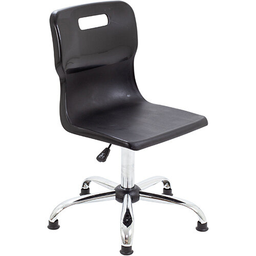 Titan Swivel Senior Classroom Chair with Glides 435-525mm Seat Height (Ages: 11+ Years) Black T35-BKG - 5 Year Guarantee