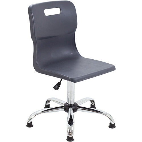 Titan Swivel Senior Classroom Chair with Glides 435-525mm Seat Height (Ages: 11+ Years) Charcoal T35-CG - 5 Year Guarantee