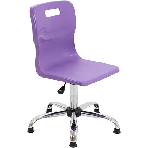 Titan Swivel Senior Classroom Chair with Glides 435-525mm Seat Height (Ages: 11+ Years) Purple T35-PG - 5 Year Guarantee