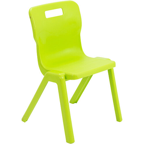 Titan One Piece Classroom Chair Size 4 380mm Seat Height (Ages: 8-11 Years) Lime T4-L - 20 Year Guarantee