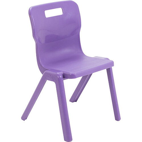 Titan One Piece Classroom Chair Size 4 380mm Seat Height (Ages: 8-11 Years) Purple T4-P - 20 Year Guarantee