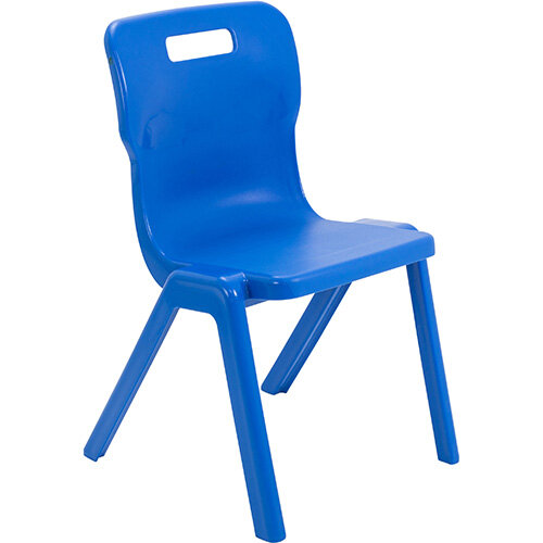 Titan One Piece Classroom Chair Size 5 430mm Seat Height (Ages: 11-14 Years) Blue T5-B - 20 Year Guarantee