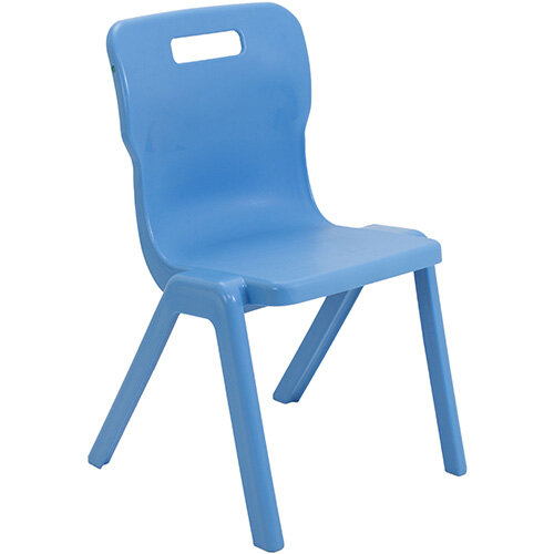 Titan One Piece Classroom Chair Size 5 430mm Seat Height (Ages: 11-14 Years) Sky Blue T5-CB - 20 Year Guarantee