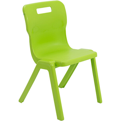 Titan One Piece Classroom Chair Size 5 430mm Seat Height (Ages: 11-14 Years) Lime T5-L - 20 Year Guarantee