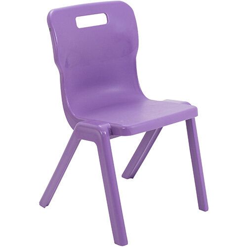 Titan One Piece Classroom Chair Size 5 430mm Seat Height (Ages: 11-14 Years) Purple T5-P - 20 Year Guarantee