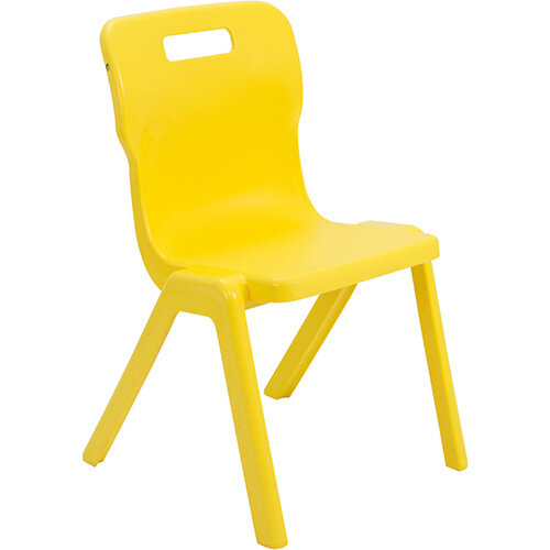Titan One Piece Classroom Chair Size 5 430mm Seat Height (Ages: 11-14 Years) Yellow T5-Y - 20 Year Guarantee