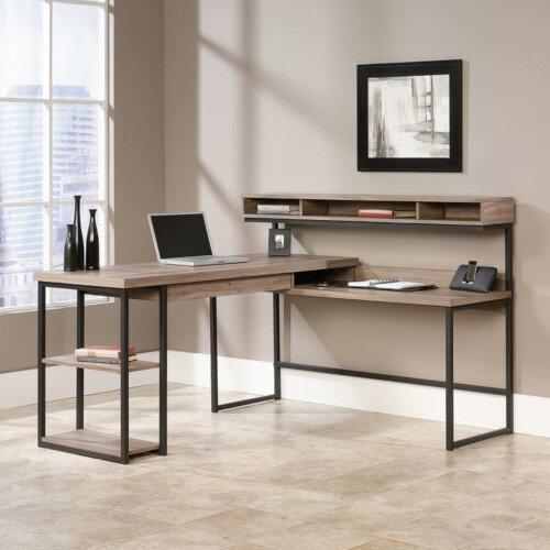 Streamline L-Shaped Home Office Desk W1542mm Salt Oak Finish