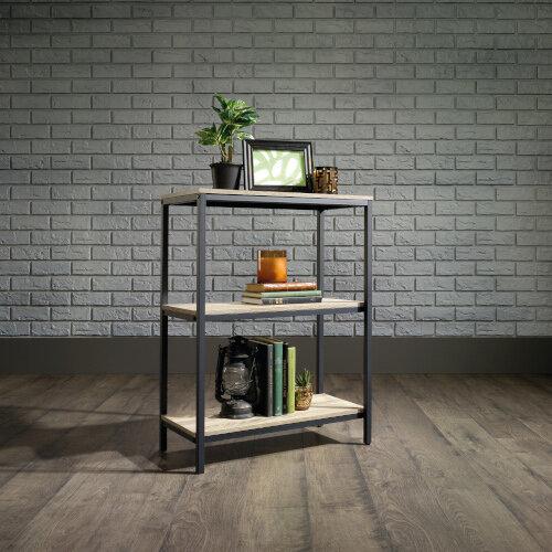 Industrial Style Home Office 2 Shelf BookcaseIn Charter Oak Effect