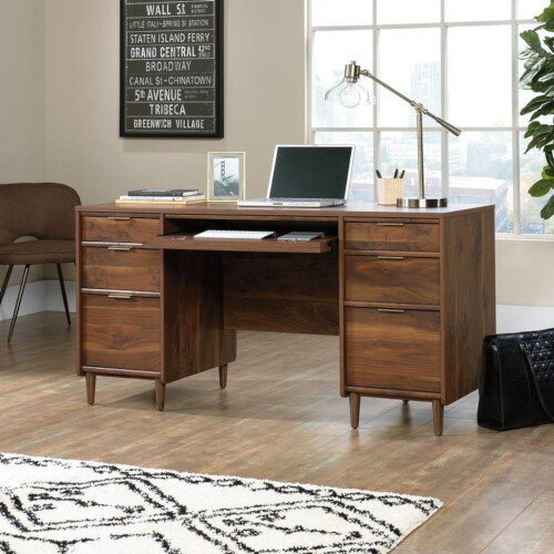 Clifton Place Executive Home Office Desk W1500mm Grand Walnut Finish