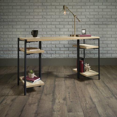 Industrial Style Chunky Bench Home Office Desk W1262mm Charter Oak Effect