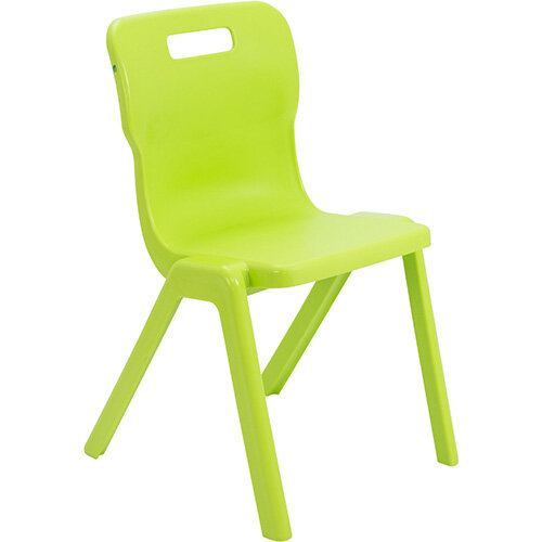 Titan One Piece Classroom Chair Size 6 460mm Seat Height (Ages: 14+ Years) Lime T6-L - 20 Year Guarantee