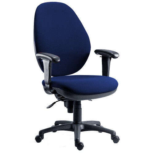 Syncrotek Super Large Ergonomic Task Operator Office Chair In Blue Fabric