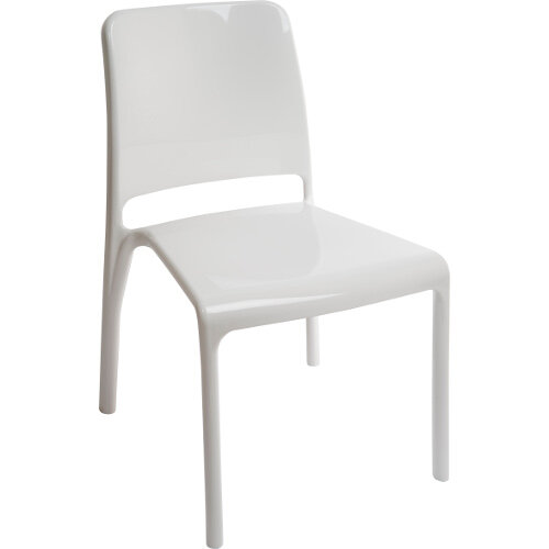 Clarity Translucent Polycarbonate Chair In High Gloss White Pack of 4