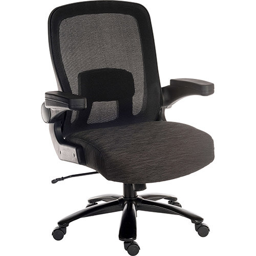 Hercules Extreme Heavy Duty 24 Hour Ergonomic Posture Mesh Back Office Chair With Lumbar Support &Padded Armrests - 35 Stone (220 Kg) Weight Tolerance