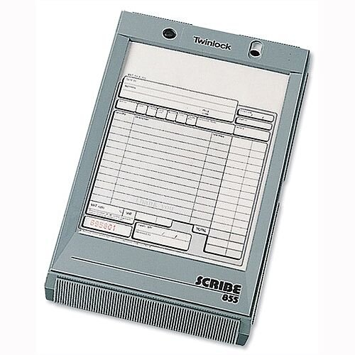 Twinlock Scribe 855 Sales Receipt 2 Part Refill Pack 100 - 2 part refill providing copies for owner and customer - Forms are numbered for record keeping - Carbonless paper