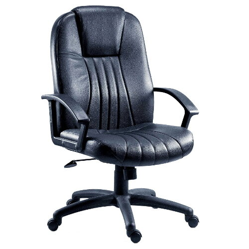 City Leather Faced Executive Office Chair In Black