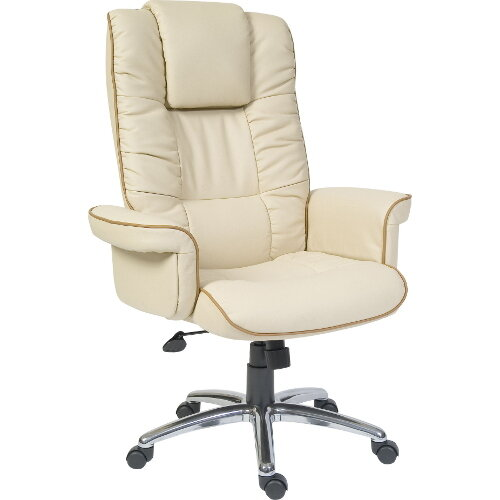 Windsor Bonded Leather Executive Office Armchair In Cream